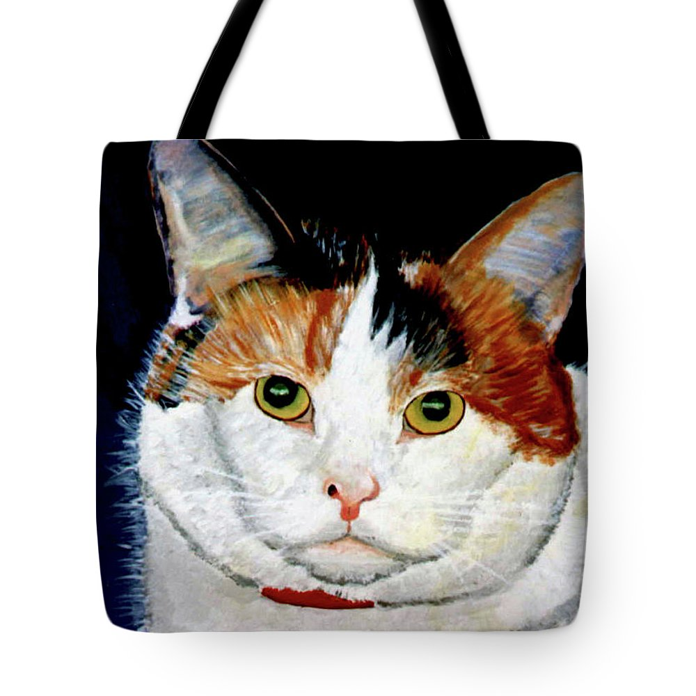 Cat Tote Bag featuring the painting Buttons by Stan Hamilton