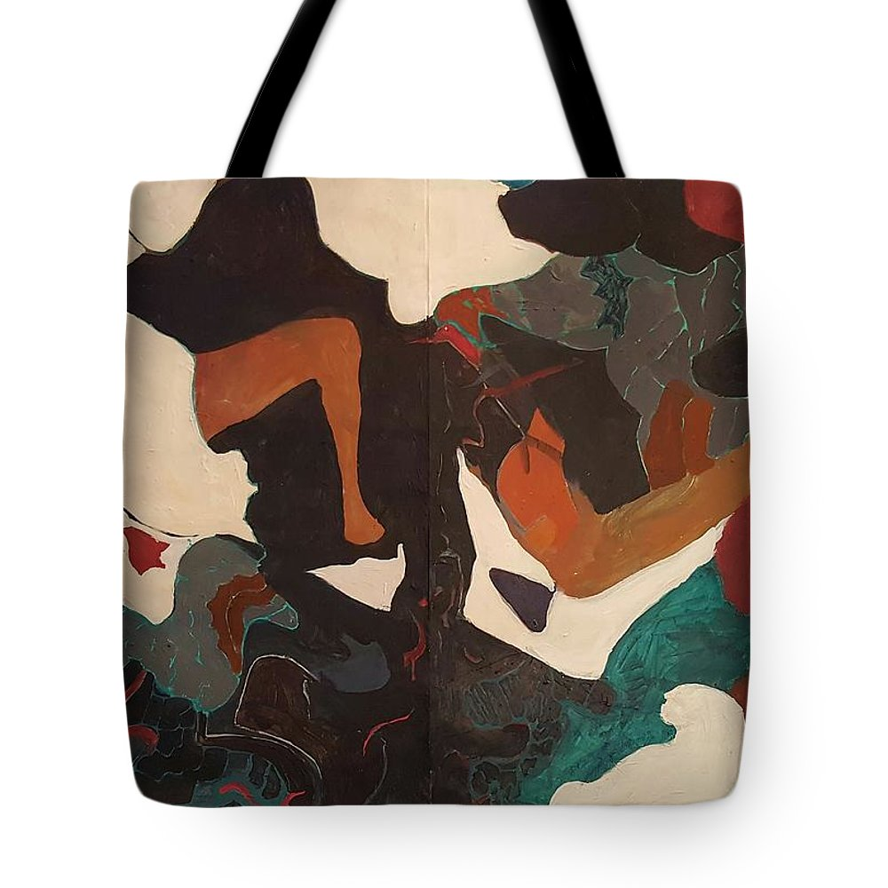 Tote Bag featuring the painting But..wondered The Cat by Susan Price