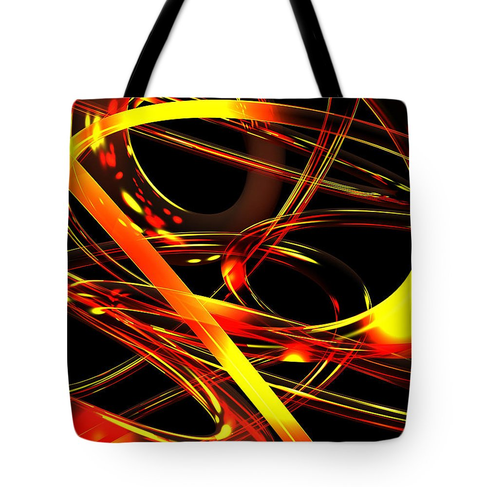 Scott Piers Tote Bag featuring the digital art BWS by Scott Piers
