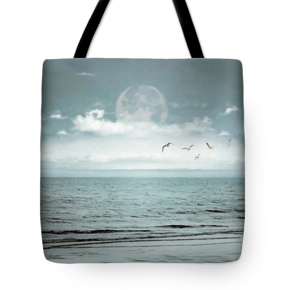 Sea Tote Bag featuring the photograph By The Blue by Hal Halli