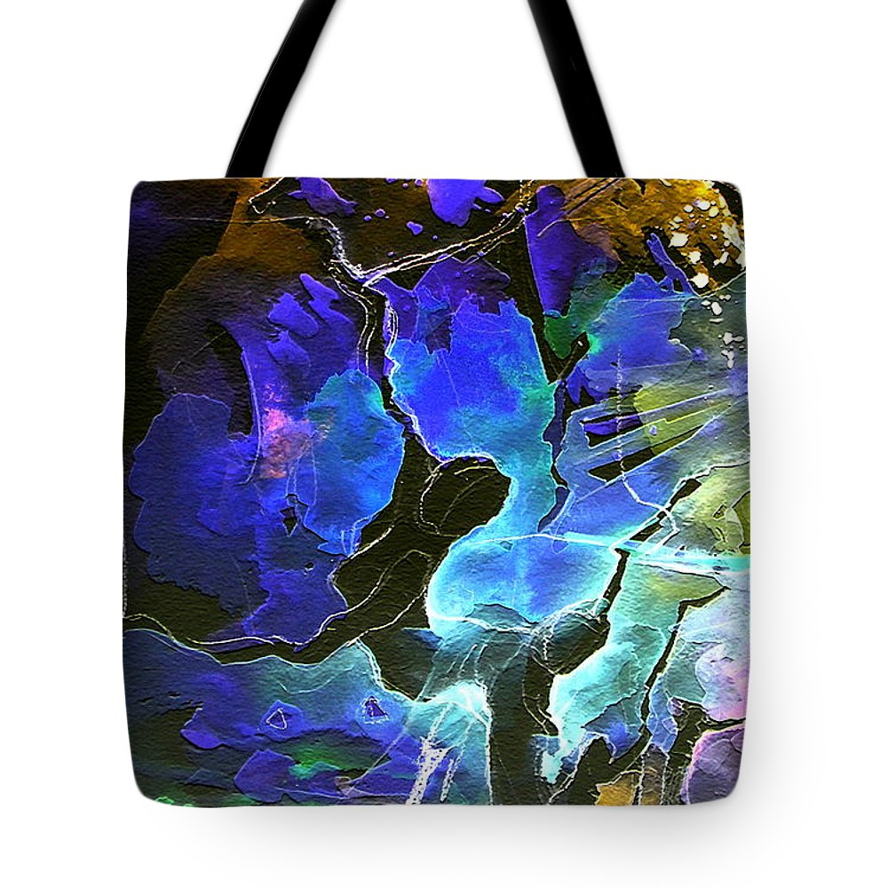 Miki Tote Bag featuring the painting Bye by Miki De Goodaboom