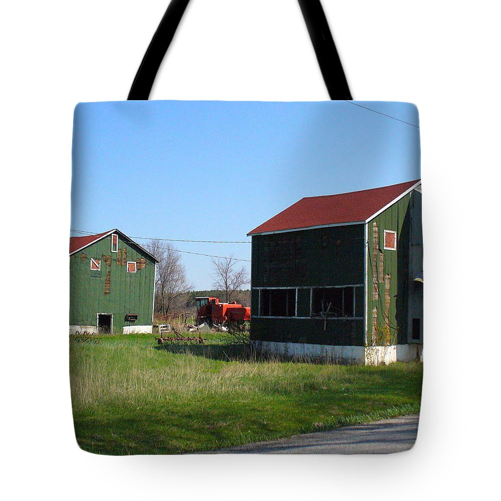 Tobacco Kilns Tote Bag featuring the photograph Bygone Era by Peggy King
