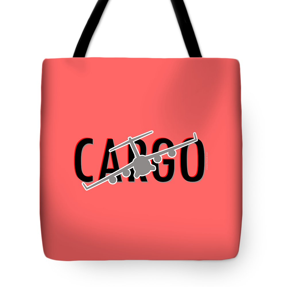 C-17 Tote Bag featuring the digital art C-17 Cargo by Clear II land Net