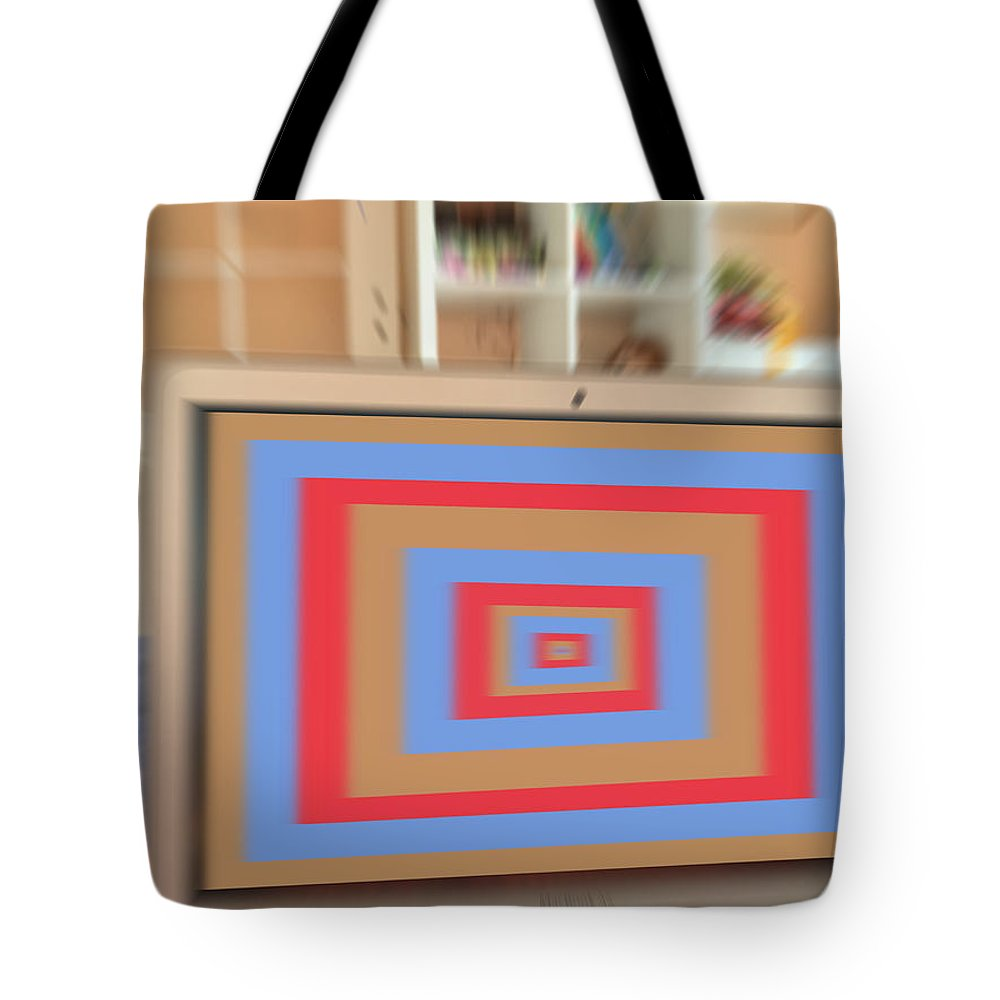 Tote Bag featuring the digital art C Force by Arnas Dilys