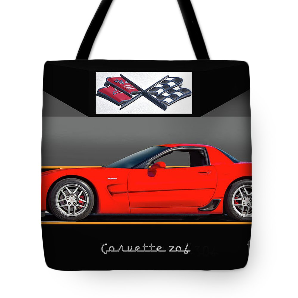 Auto Tote Bag featuring the photograph C5 Corvette Zo6 'profile' I by Dave Koontz