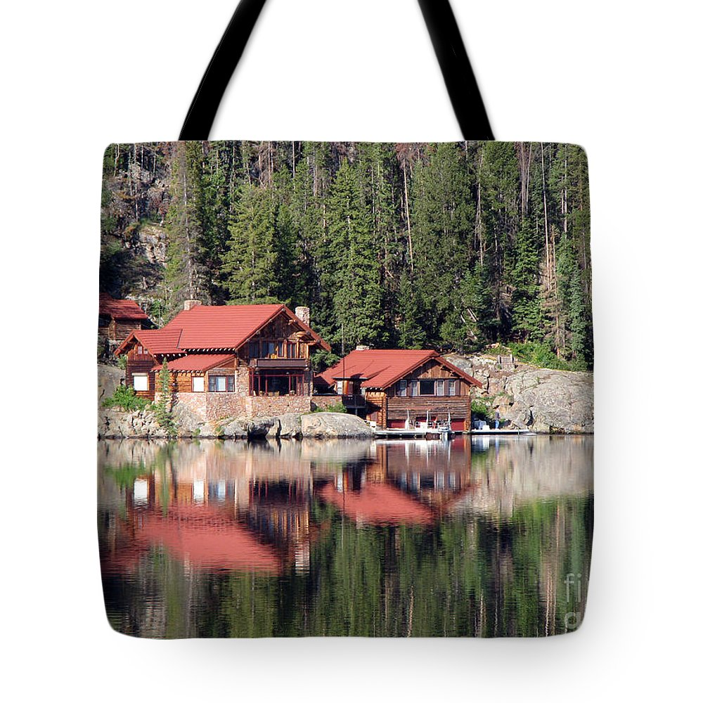 Cabin Tote Bag featuring the photograph Cabin by Amanda Barcon