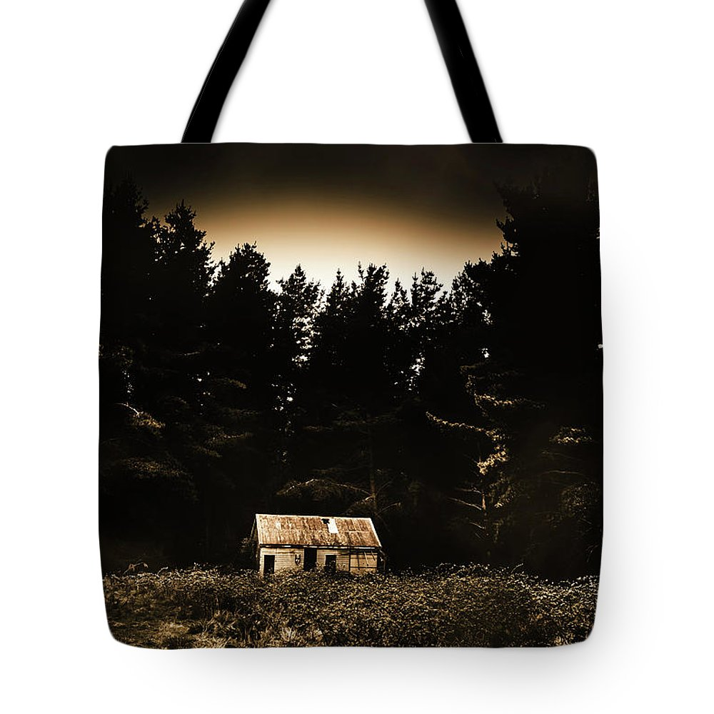 Woods Tote Bag featuring the photograph Cabin In The Woodlands by Jorgo Photography - Wall Art Gallery