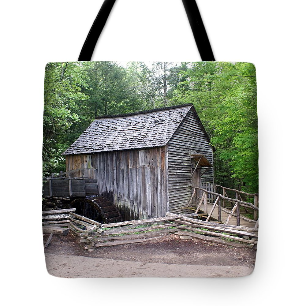 Cable Mill Tote Bag featuring the photograph Cable Mill by Marty Koch