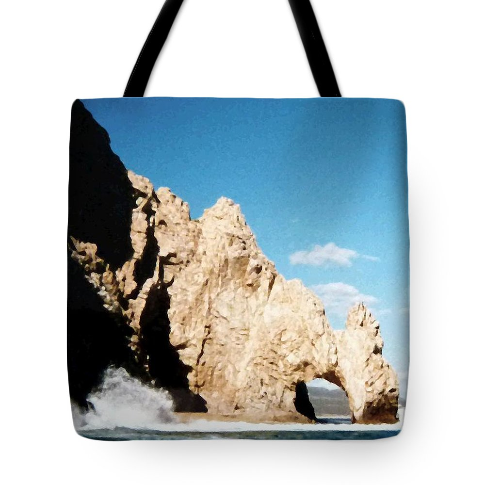 Mexico Tote Bag featuring the photograph Cabo San Lucas Arch by Will Borden