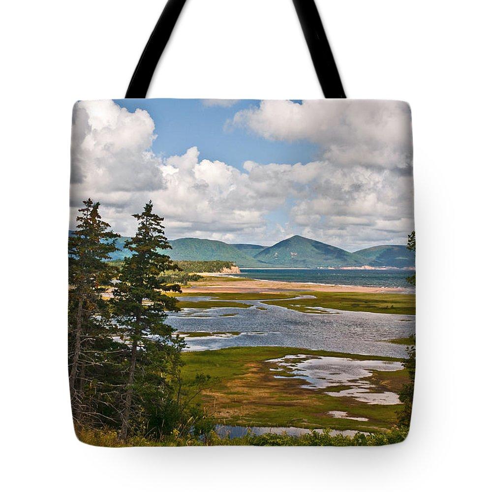 Cabot Trail Nova Scotia Tote Bag featuring the photograph Cabot Trail In Nova Scotia by Ginger Wakem