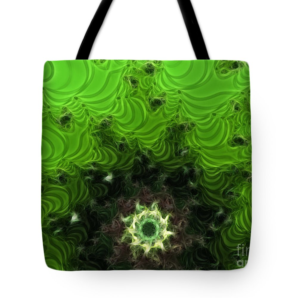Cactus Abstract Tote Bag featuring the digital art Cactus Abstract by Methune Hively