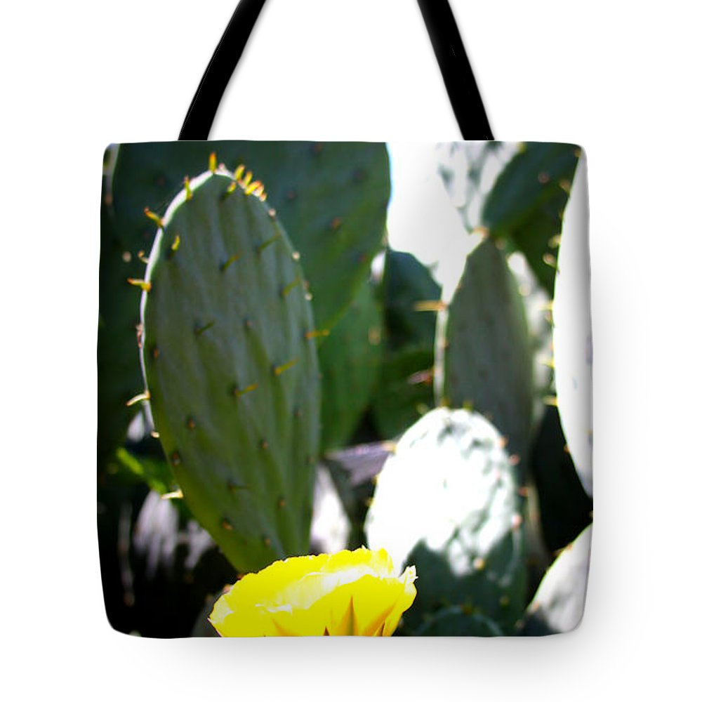 Cactus Tote Bag featuring the photograph Cactus Bloom by Tina Meador