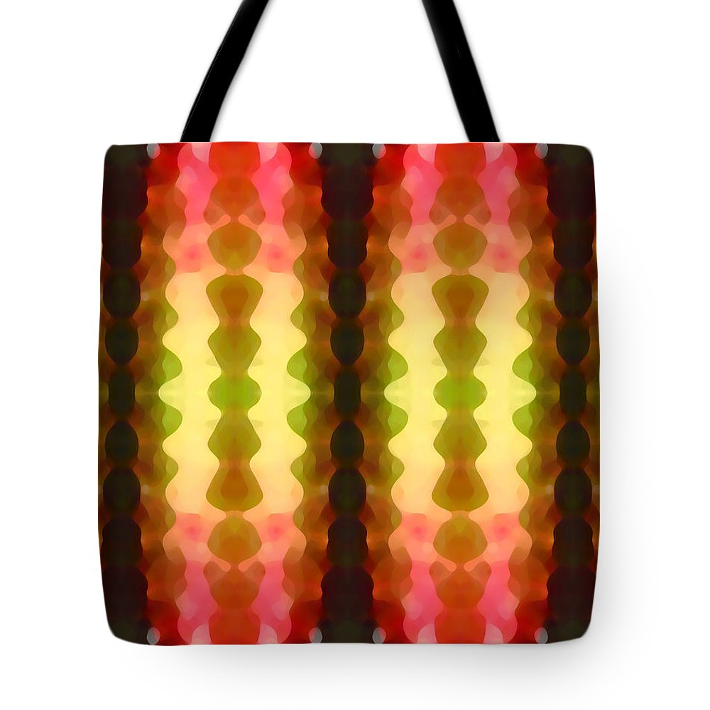 Abstract Painting Tote Bag featuring the digital art Cactus Vibrations 1 by Amy Vangsgard