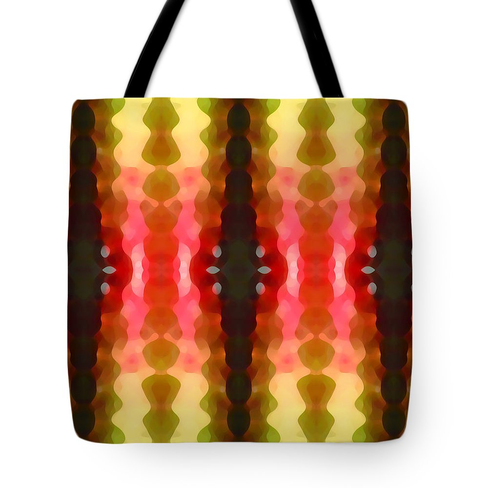 Abstract Tote Bag featuring the painting Cactus Vibrations 2 by Amy Vangsgard
