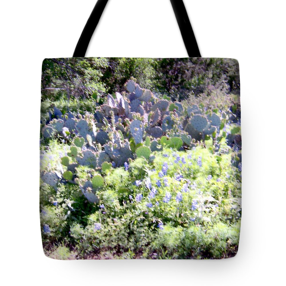 Cactuses Prints Tote Bag featuring the photograph Cactuses by Ruth Housley