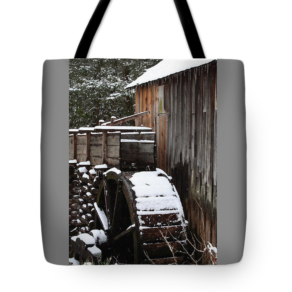 Great Smoky Mountains Tote Bag featuring the photograph Cades Cove Mill I by Margie Wildblood