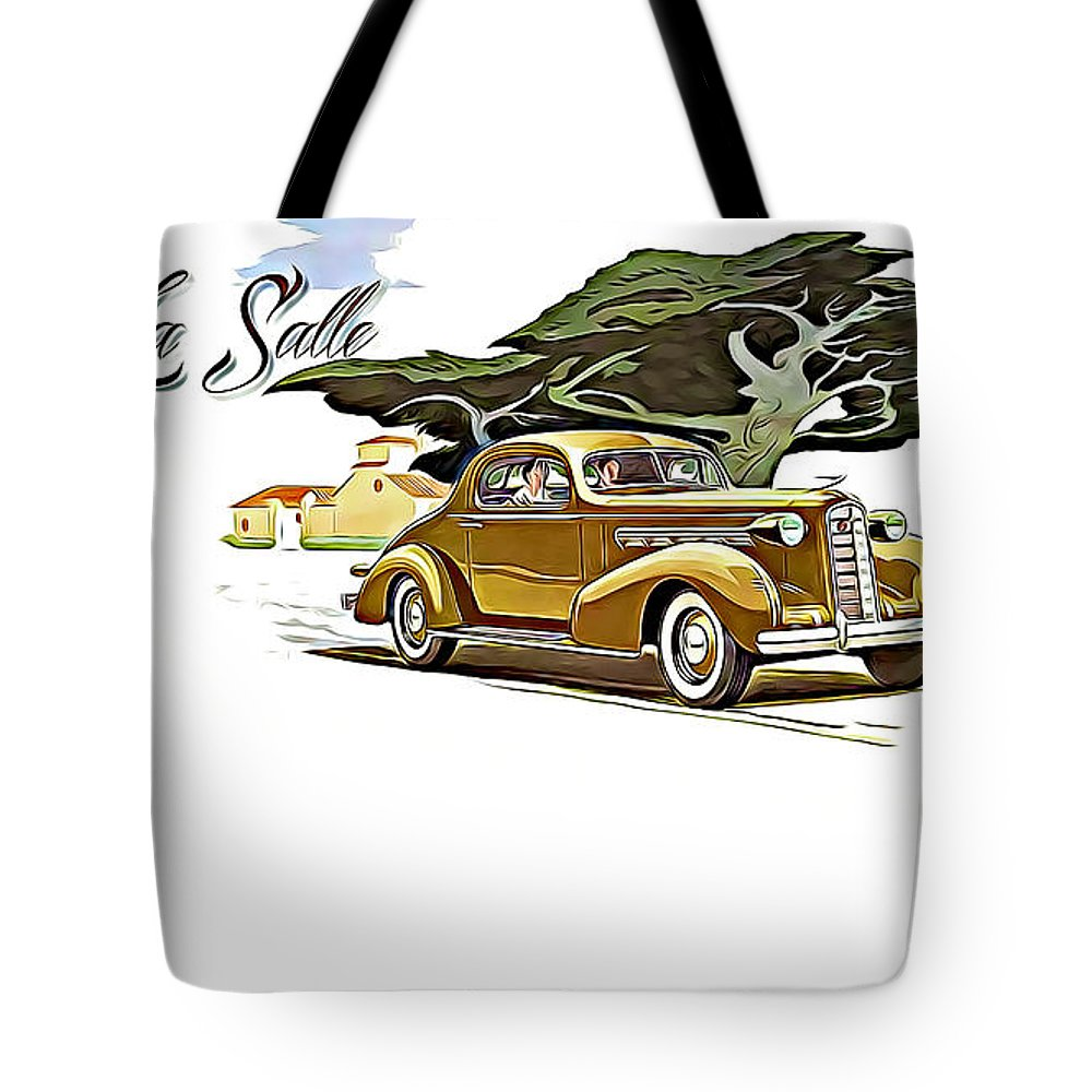 Cadillac Lasalle Tote Bag featuring the digital art Cadillac Lasalle by Lora Battle