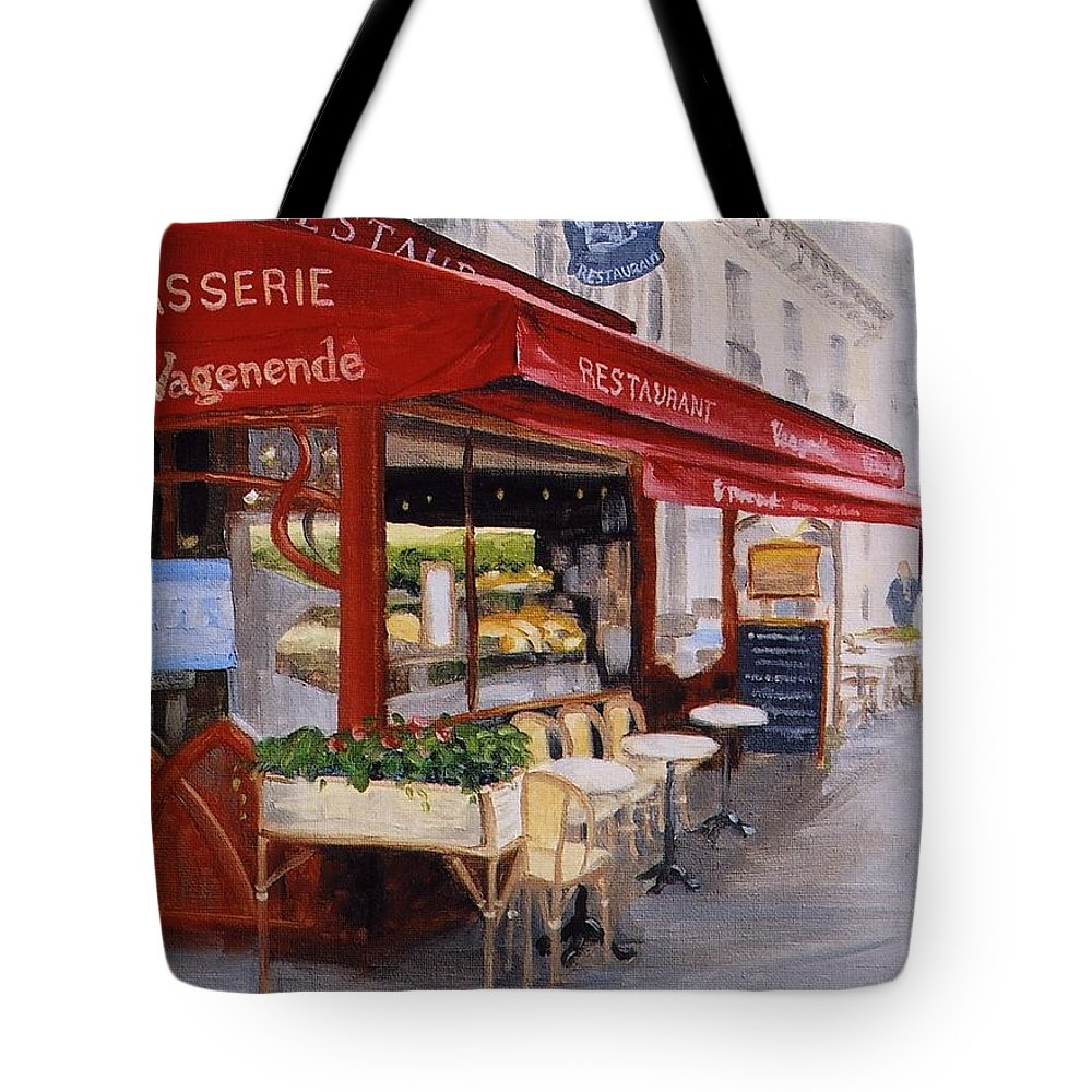 Cafe Tote Bag featuring the painting Cafe 4 by Jay Johnson