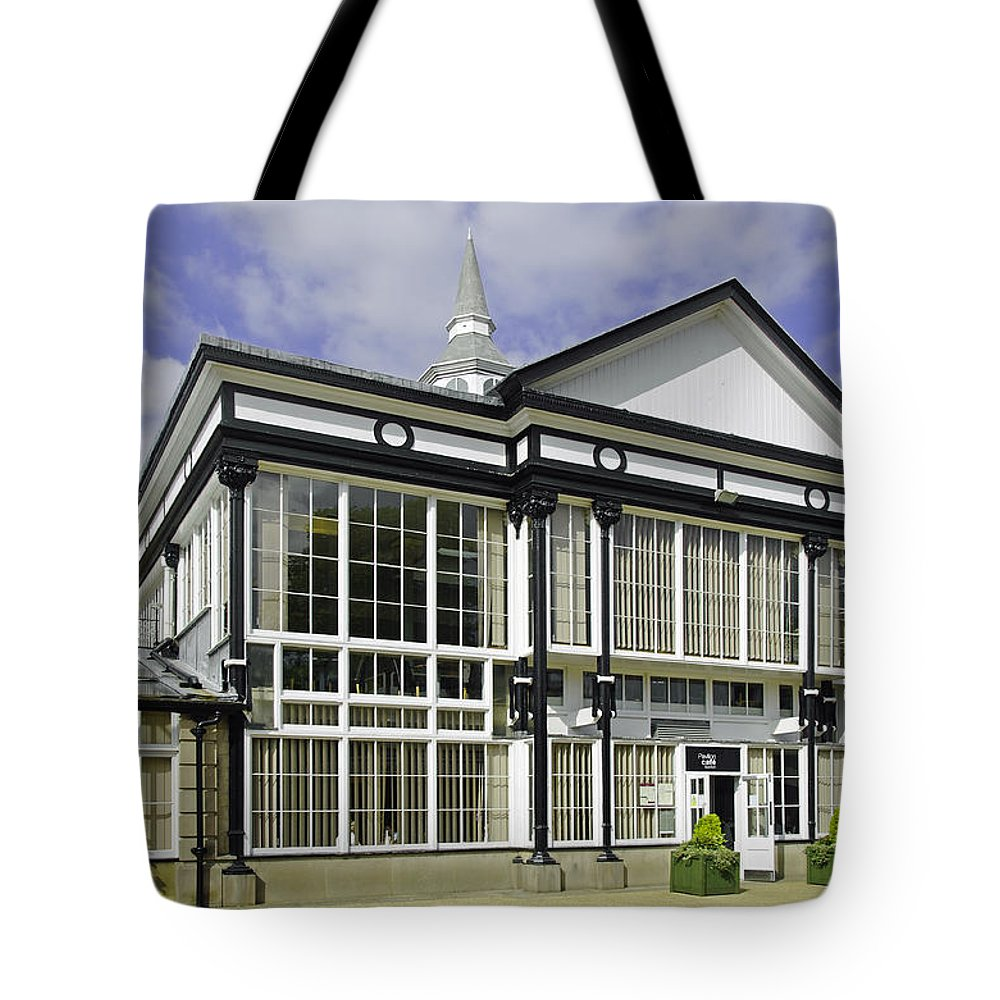 Europe Tote Bag featuring the photograph Cafe At The Pavilion Gardens - Buxton by Rod Johnson