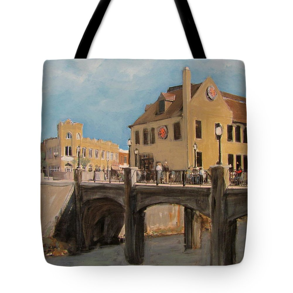 Milwaukee Tote Bag featuring the mixed media Cafe Hollander 1 by Anita Burgermeister