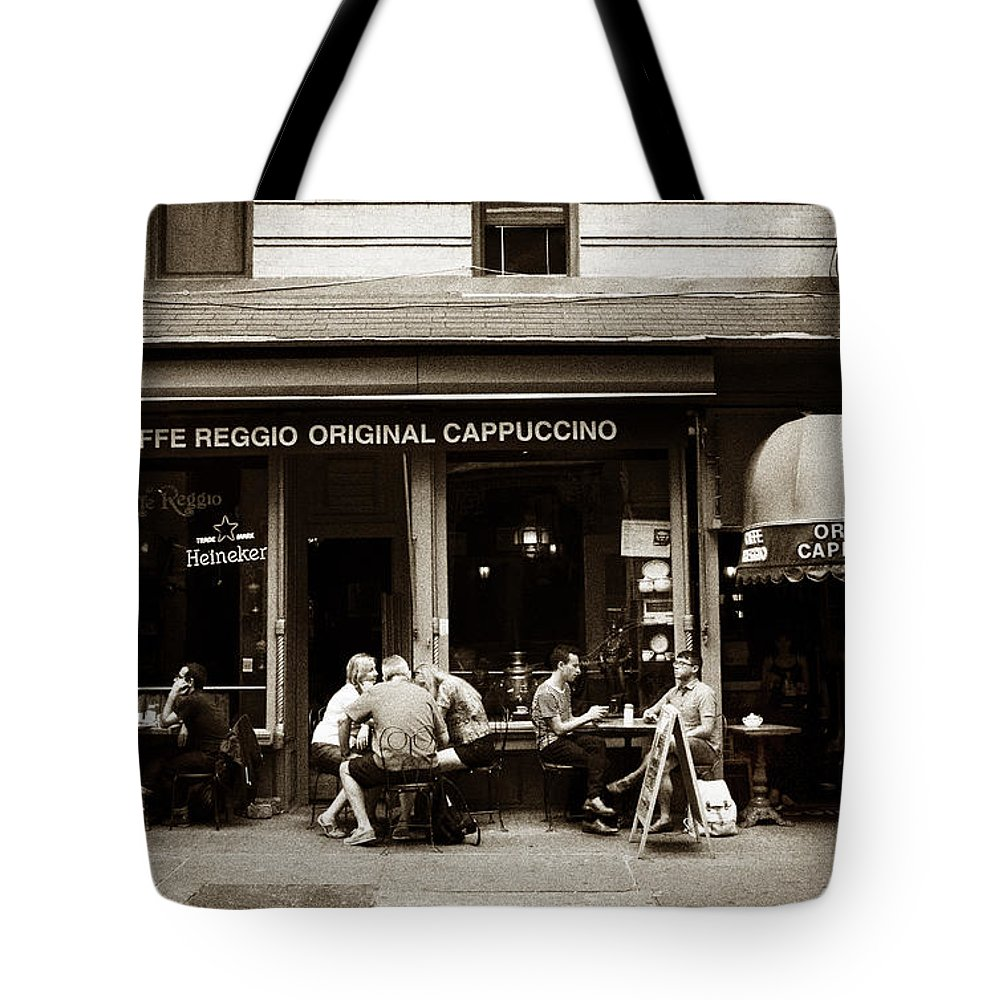 New York City Tote Bag featuring the photograph Caffe Reggio Nyc by Jessica Jenney