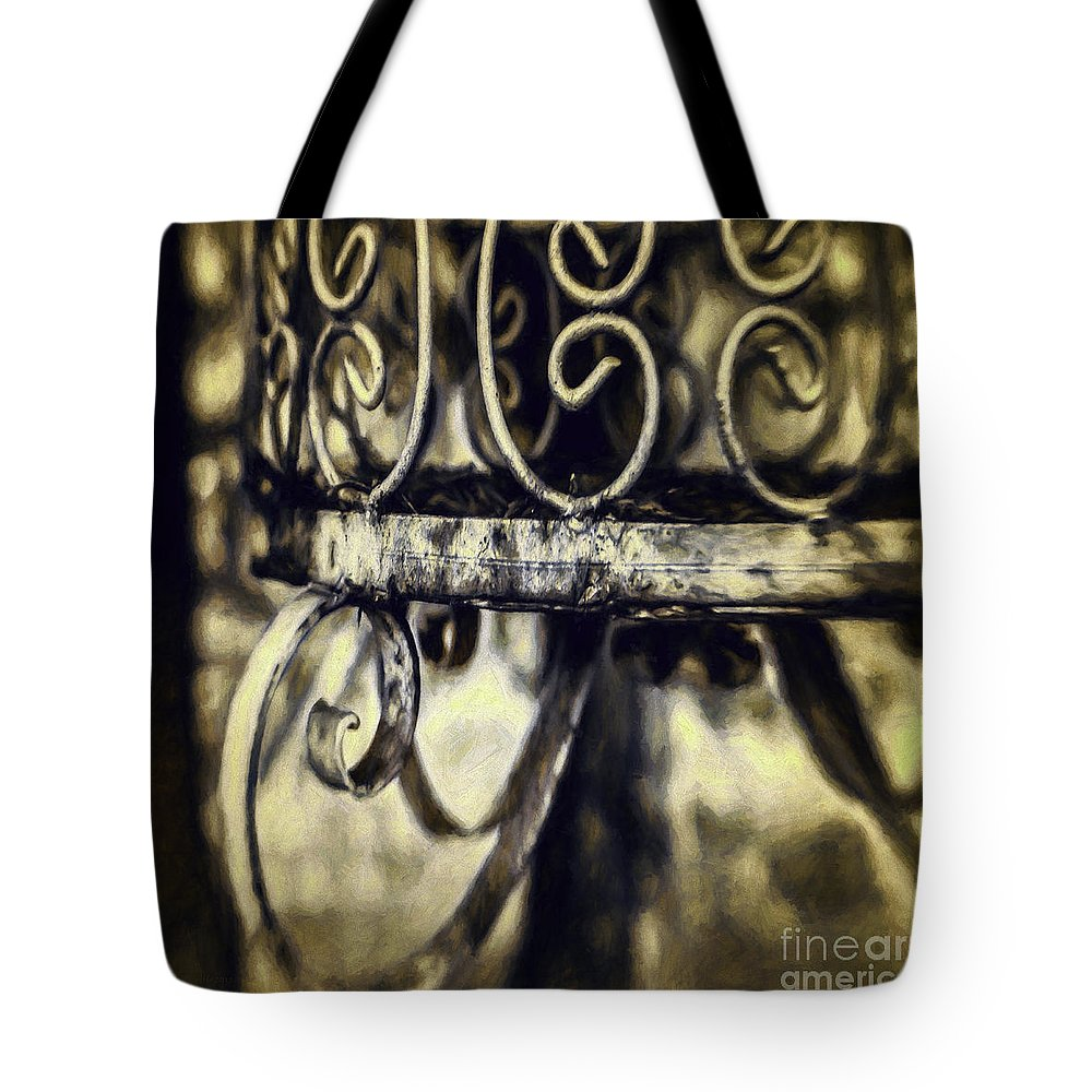 Cage Tote Bag featuring the photograph Caged by Jean OKeeffe Macro Abundance Art