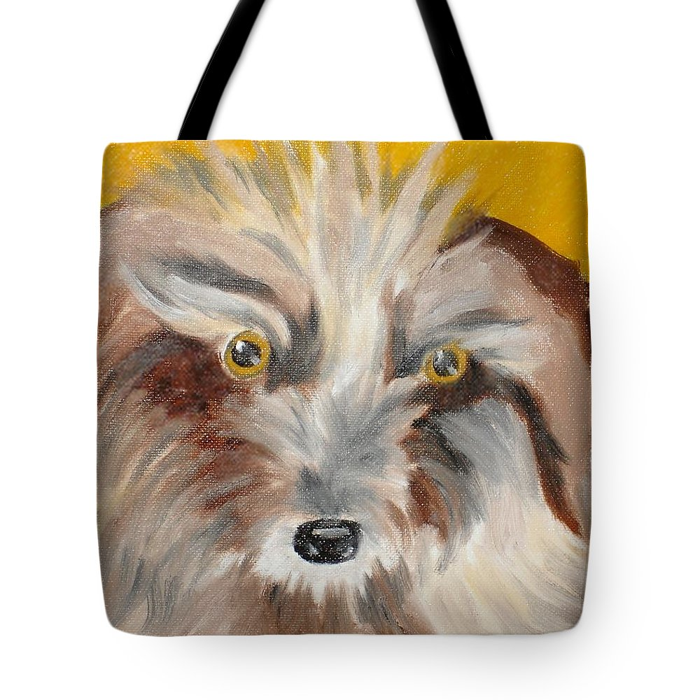 Dog Tote Bag featuring the painting Cairn Terrier by Susan Kubes