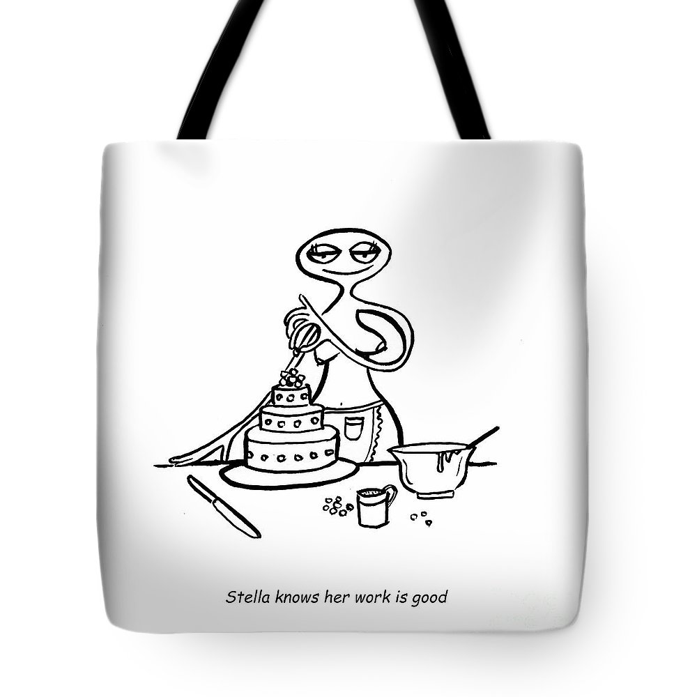 Stella Tote Bag featuring the digital art Cake Competitor by Leanne Wilkes