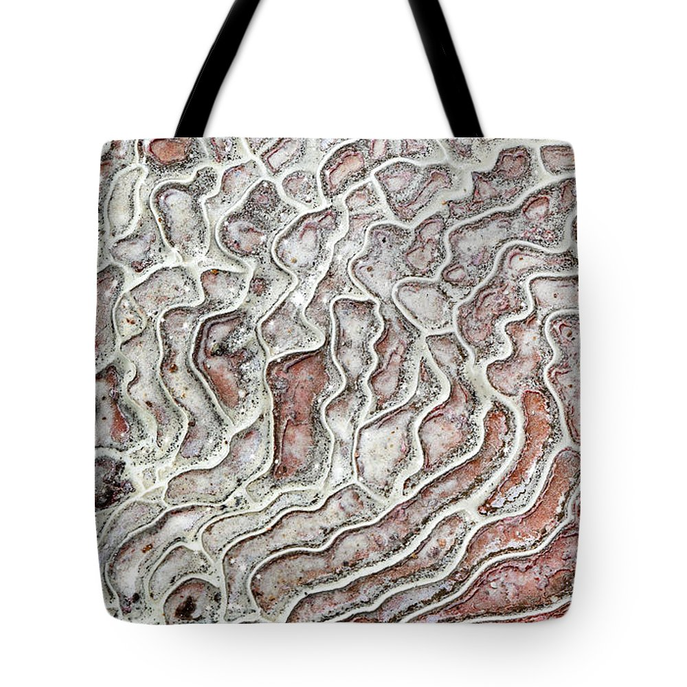 Tote Bag featuring the photograph Calcium Deposits From Thermal Springs, Pamukkale - Turkey by Dia Karanouh