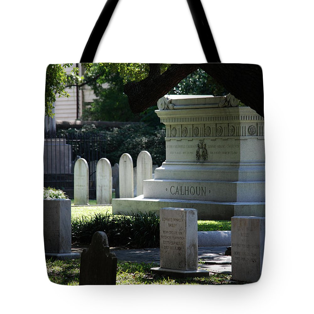 Photography Tote Bag featuring the photograph Calhoun Is A Big Name In Charleston by Susanne Van Hulst