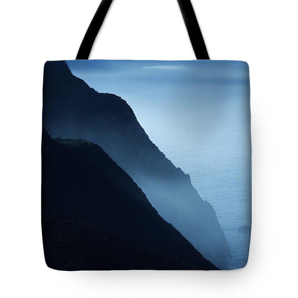 Beach Tote Bag featuring the photograph California Big Sur Coast by Larry Dale Gordon - Printscapes