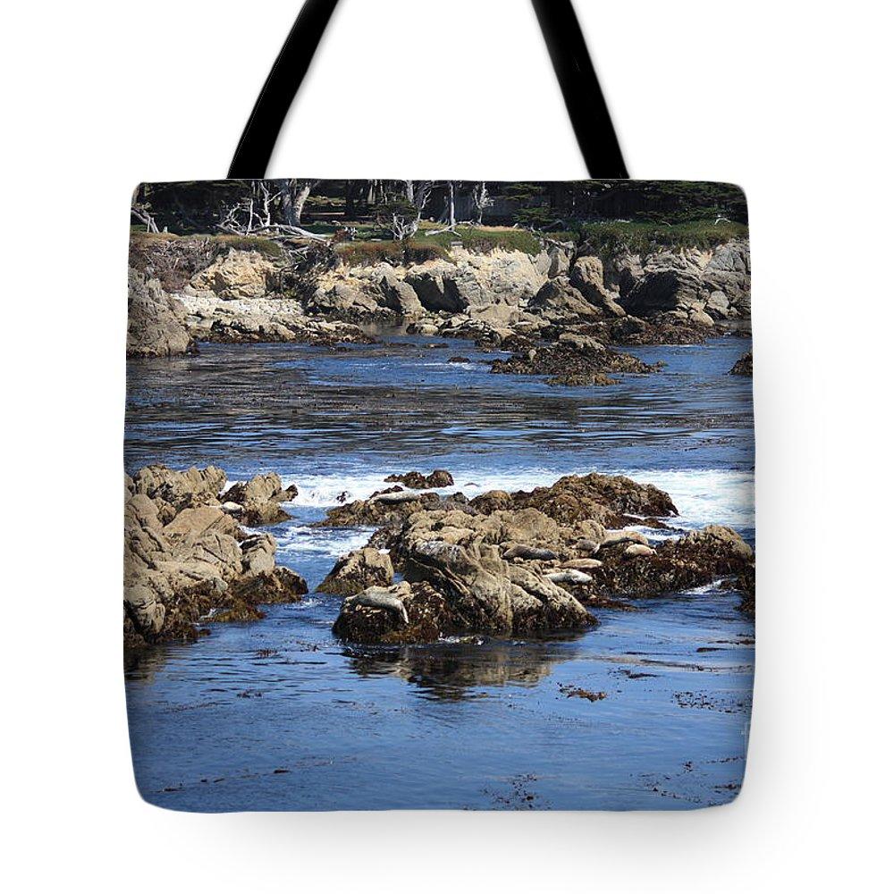 California Seaside Tote Bag featuring the photograph California Coast by Carol Groenen