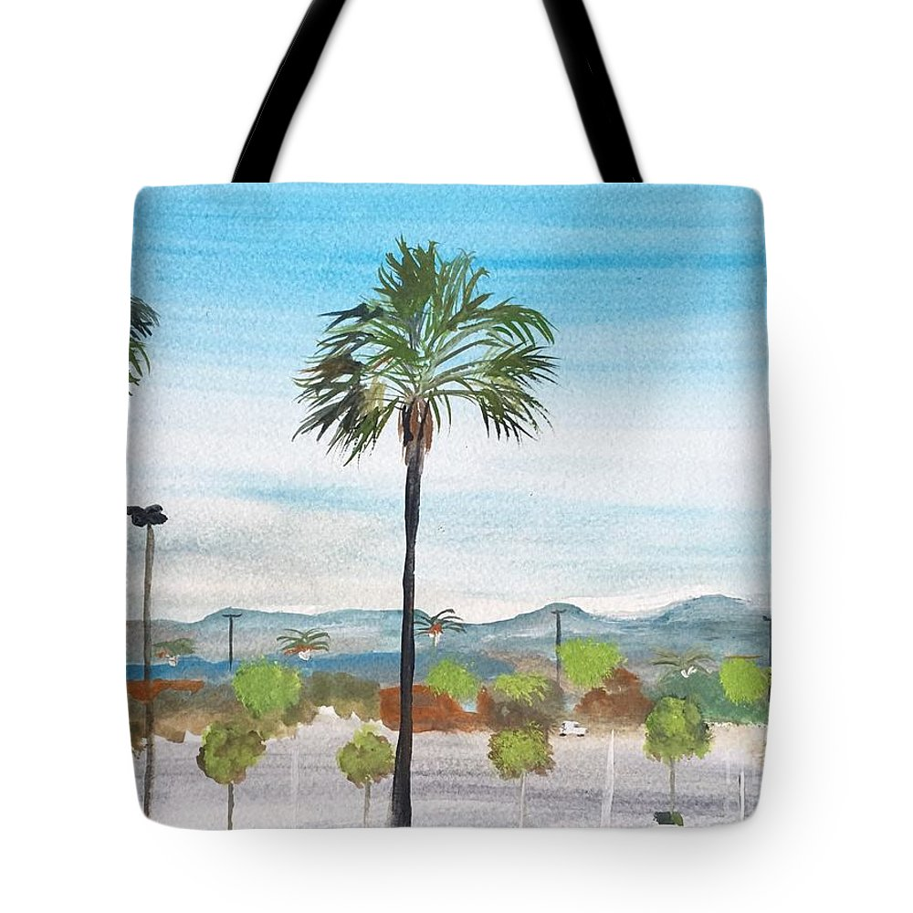 California Watercolour Painting By Artist Monika Howarth. Tote Bag featuring the painting California Painting by Monika Howarth