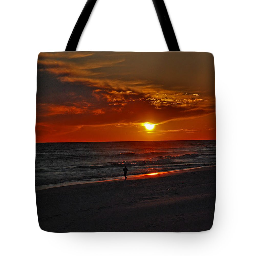 Sunset Tote Bag featuring the photograph California Sun by Susanne Van Hulst