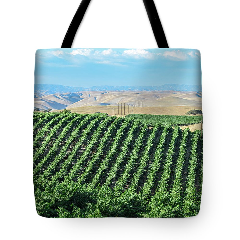 Agriculture Tote Bag featuring the photograph California Vineyards 2 by David A Litman