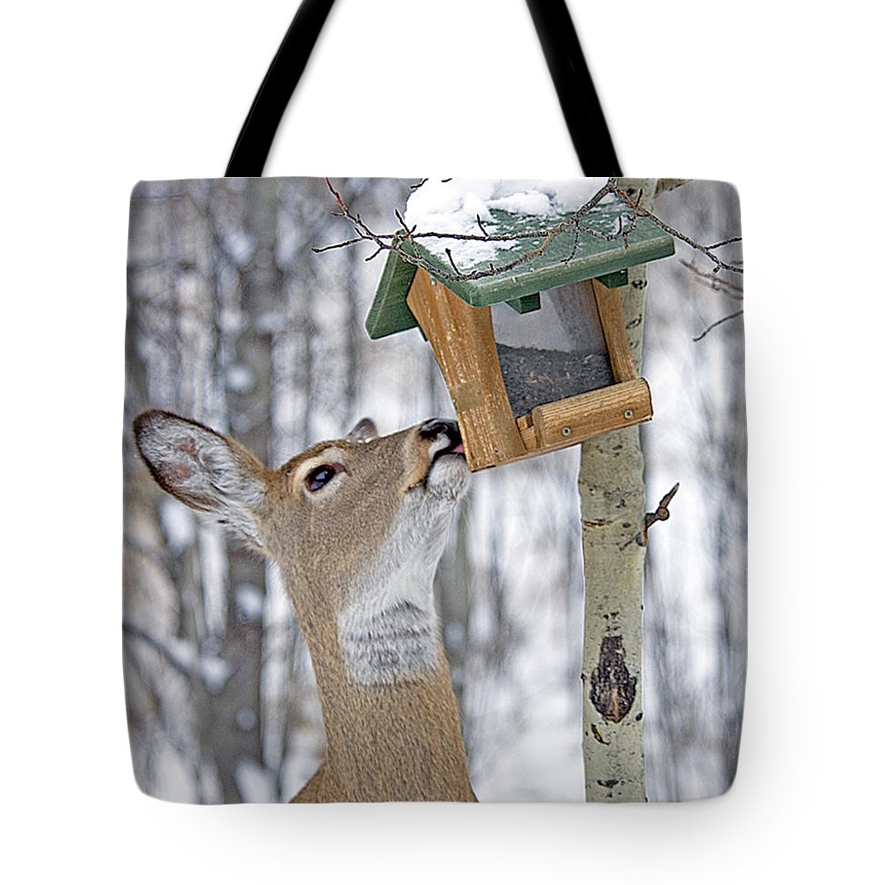 Deer Tote Bag featuring the photograph Call Me Tweety by Gary Beeler