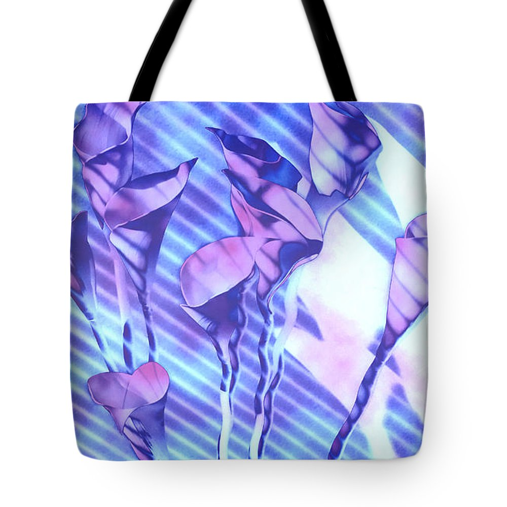 Flowers Tote Bag featuring the photograph Calla Lilies by Gary at TopPhotosI