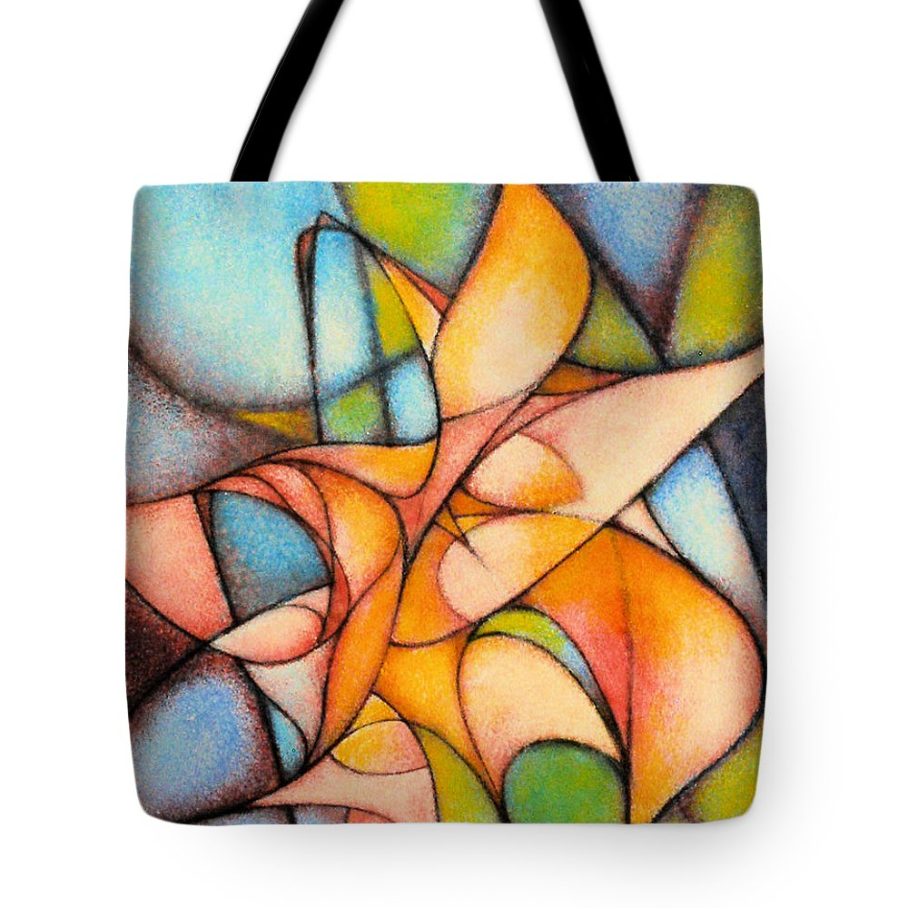 Contemporary Tote Bag featuring the painting Calla Lillies by Kevin Lawrence Leveque