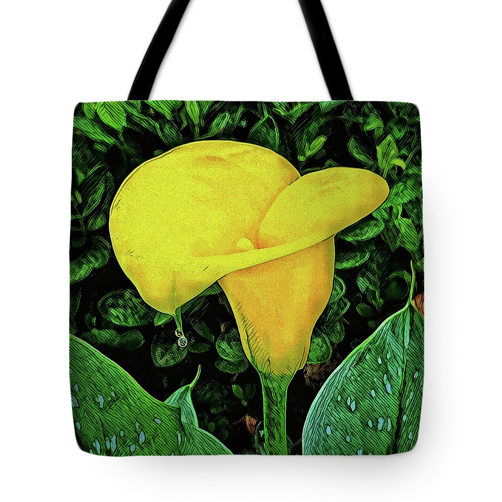 Calla Lily Tote Bag featuring the photograph Calla Lily by Chip Evans