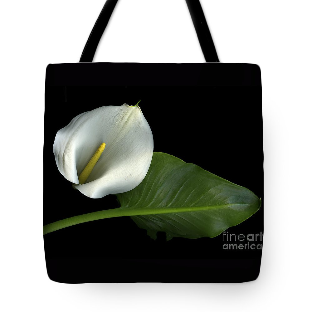 Scanography Tote Bag featuring the photograph Calla Lily by Christian Slanec