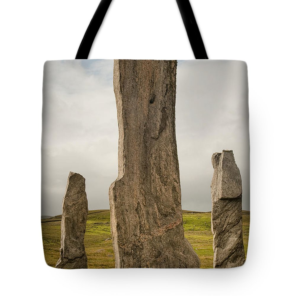 Scotland Tote Bag featuring the photograph Callanish Standing Stones by Colette Panaioti