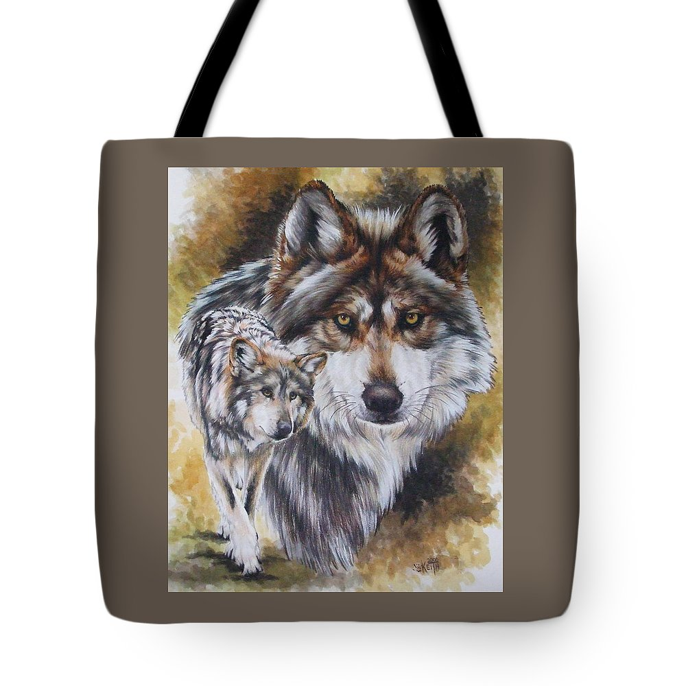 Wildlife Tote Bag featuring the mixed media Callidity by Barbara Keith