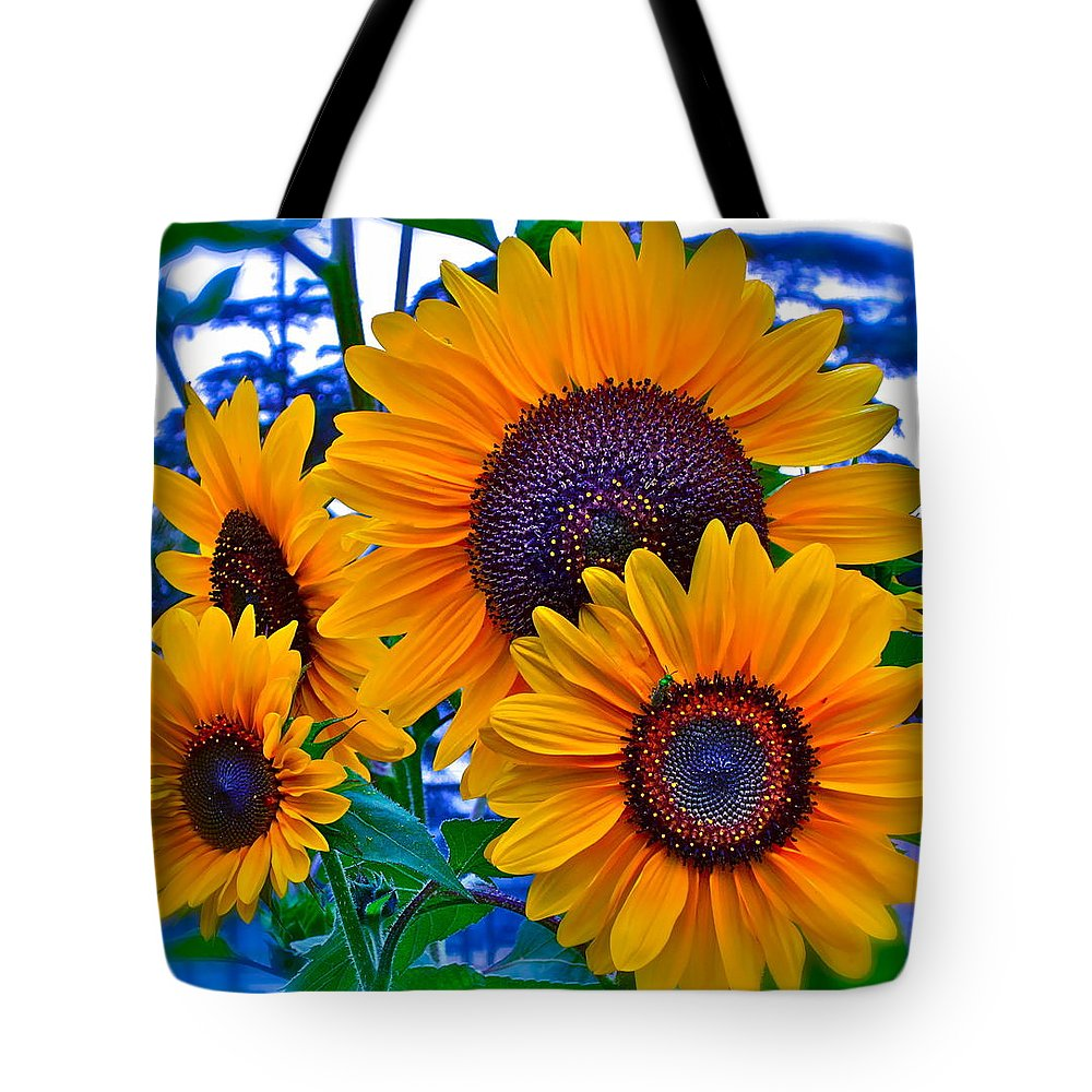 Photographs Tote Bag featuring the photograph Callie's Crew by Gwyn Newcombe