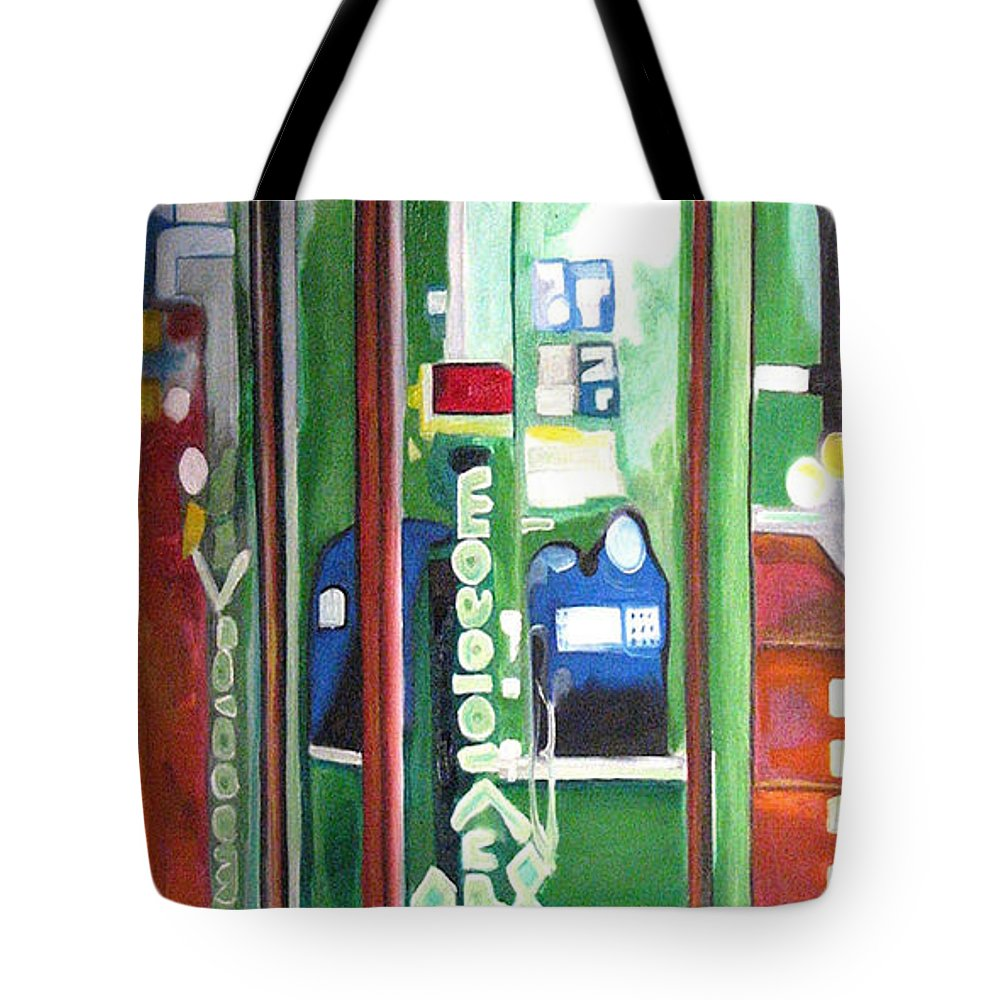Abstract Tote Bag featuring the painting Calling Dam by Patricia Arroyo
