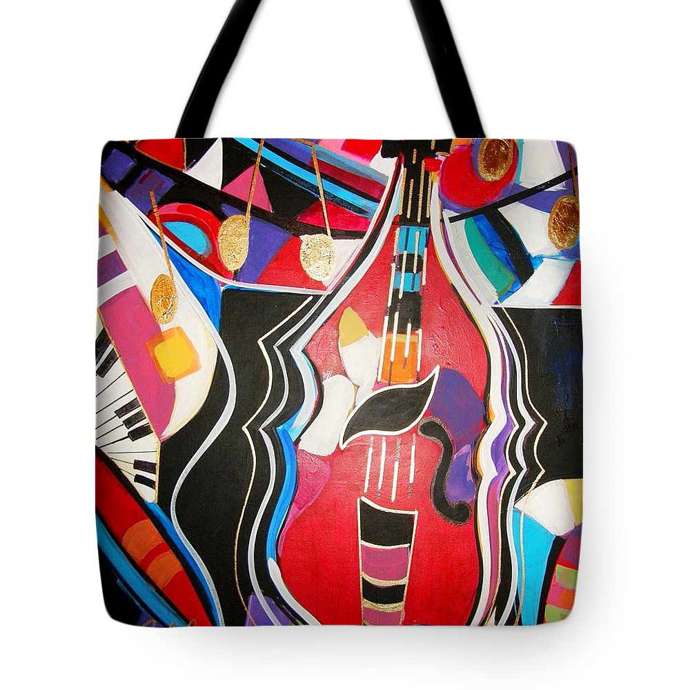 Music Tote Bag featuring the painting Calling Me Home by Gina Hulse