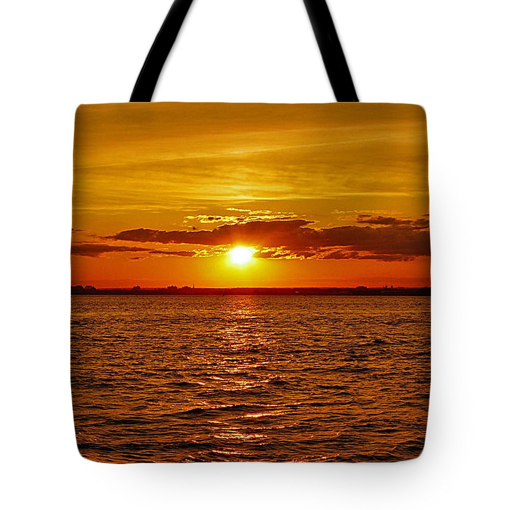 Statute Of Liberty Tote Bag featuring the photograph Calling Us In by Kendall Eutemey