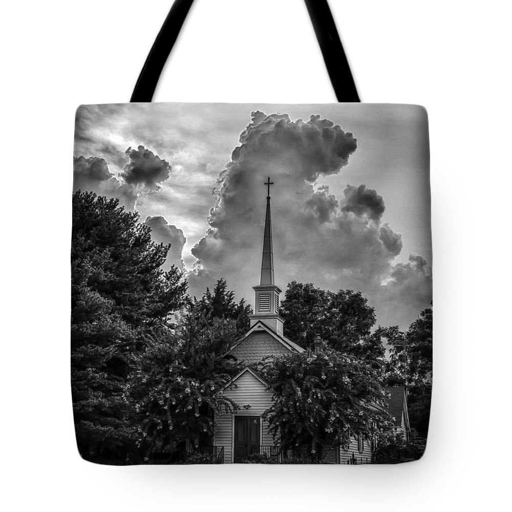 Church Tote Bag featuring the photograph Calm Before The Storm by Guy Shultz