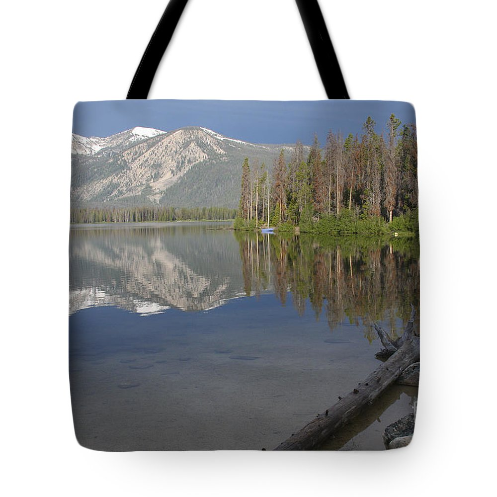 Stanley Lake Tote Bag featuring the photograph Calm Before The Storm by Idaho Scenic Images Linda Lantzy