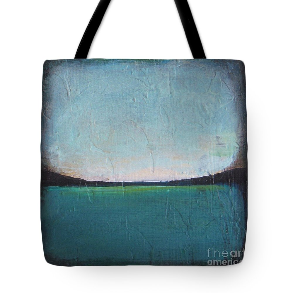 Ocean Tote Bag featuring the painting Calm Ocean 1 by Vesna Antic