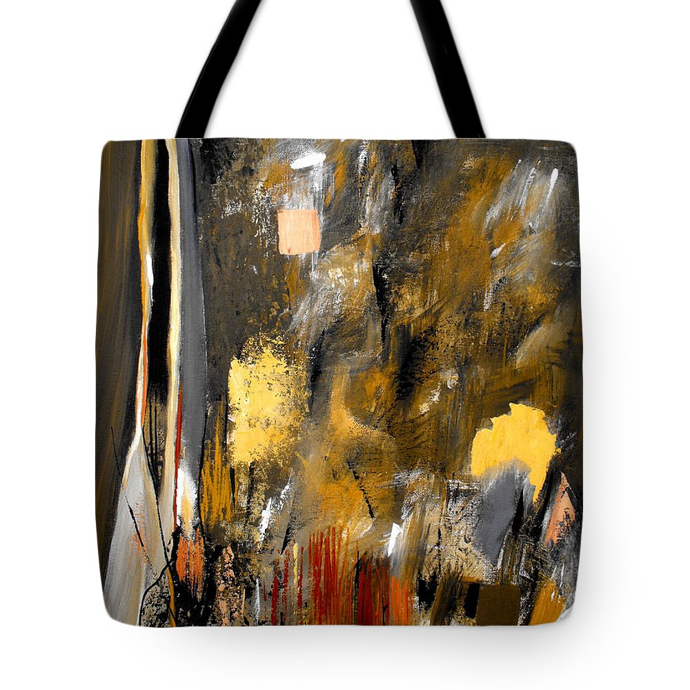 ruth Palmer Tote Bag featuring the painting Calm Out Of Chaos 2010 by Ruth Palmer